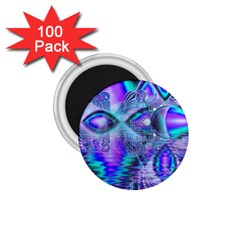 Peacock Crystal Palace Of Dreams, Abstract 1 75  Button Magnet (100 Pack) by DianeClancy
