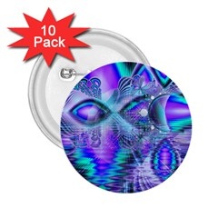 Peacock Crystal Palace Of Dreams, Abstract 2 25  Button (10 Pack) by DianeClancy