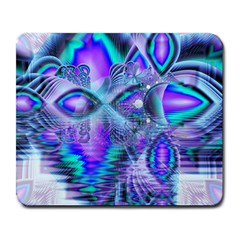 Peacock Crystal Palace Of Dreams, Abstract Large Mouse Pad (rectangle) by DianeClancy