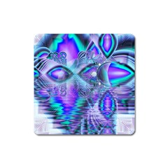 Peacock Crystal Palace Of Dreams, Abstract Magnet (square) by DianeClancy