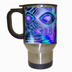 Peacock Crystal Palace Of Dreams, Abstract Travel Mug (white) by DianeClancy