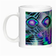 Peacock Crystal Palace Of Dreams, Abstract Glow In The Dark Mug by DianeClancy