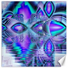Peacock Crystal Palace Of Dreams, Abstract Canvas 20  X 20  (unframed) by DianeClancy