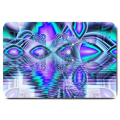 Peacock Crystal Palace Of Dreams, Abstract Large Door Mat by DianeClancy