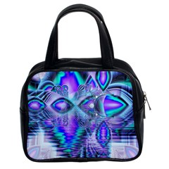 Peacock Crystal Palace Of Dreams, Abstract Classic Handbag (two Sides) by DianeClancy