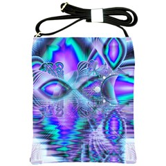 Peacock Crystal Palace Of Dreams, Abstract Shoulder Sling Bag by DianeClancy