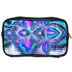 Peacock Crystal Palace Of Dreams, Abstract Travel Toiletry Bag (one Side) by DianeClancy