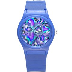 Peacock Crystal Palace Of Dreams, Abstract Plastic Sport Watch (small) by DianeClancy