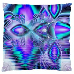 Peacock Crystal Palace Of Dreams, Abstract Large Cushion Case (two Sided)  by DianeClancy