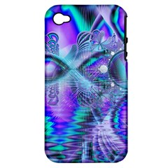 Peacock Crystal Palace Of Dreams, Abstract Apple Iphone 4/4s Hardshell Case (pc+silicone) by DianeClancy