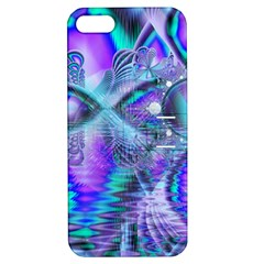 Peacock Crystal Palace Of Dreams, Abstract Apple Iphone 5 Hardshell Case With Stand by DianeClancy