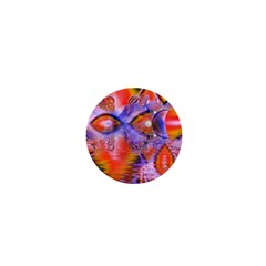 Crystal Star Dance, Abstract Purple Orange 1  Mini Button Magnet by DianeClancy