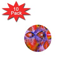 Crystal Star Dance, Abstract Purple Orange 1  Mini Button (10 Pack) by DianeClancy