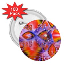 Crystal Star Dance, Abstract Purple Orange 2 25  Button (100 Pack) by DianeClancy