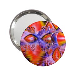Crystal Star Dance, Abstract Purple Orange Handbag Mirror (2 25 ) by DianeClancy