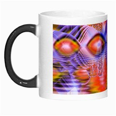 Crystal Star Dance, Abstract Purple Orange Morph Mug by DianeClancy