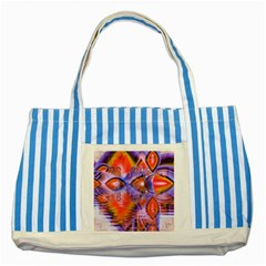 Crystal Star Dance, Abstract Purple Orange Blue Striped Tote Bag by DianeClancy