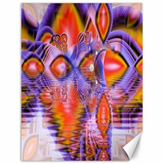 Crystal Star Dance, Abstract Purple Orange Canvas 12  X 16  (unframed) by DianeClancy