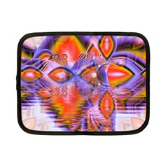 Crystal Star Dance, Abstract Purple Orange Netbook Sleeve (small) by DianeClancy