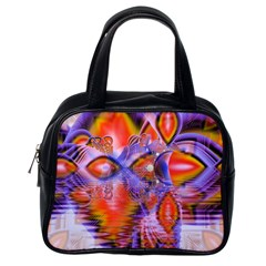 Crystal Star Dance, Abstract Purple Orange Classic Handbag (one Side) by DianeClancy