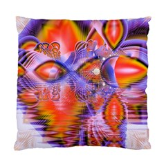 Crystal Star Dance, Abstract Purple Orange Cushion Case (single Sided)  by DianeClancy