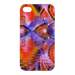 Crystal Star Dance, Abstract Purple Orange Apple Iphone 4/4s Hardshell Case by DianeClancy
