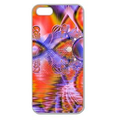 Crystal Star Dance, Abstract Purple Orange Apple Seamless Iphone 5 Case (clear) by DianeClancy