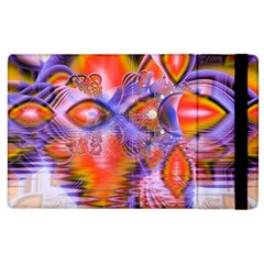 Crystal Star Dance, Abstract Purple Orange Apple Ipad 2 Flip Case by DianeClancy