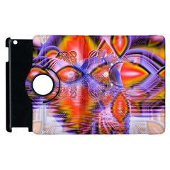 Crystal Star Dance, Abstract Purple Orange Apple Ipad 2 Flip 360 Case by DianeClancy