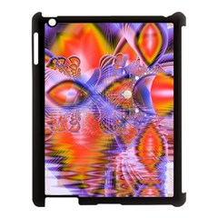 Crystal Star Dance, Abstract Purple Orange Apple Ipad 3/4 Case (black) by DianeClancy