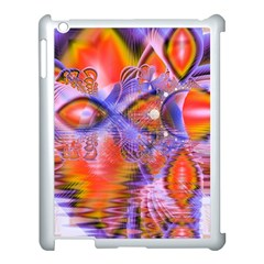 Crystal Star Dance, Abstract Purple Orange Apple Ipad 3/4 Case (white) by DianeClancy