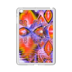 Crystal Star Dance, Abstract Purple Orange Apple Ipad Mini 2 Case (white) by DianeClancy