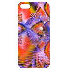 Crystal Star Dance, Abstract Purple Orange Apple Iphone 5 Hardshell Case With Stand by DianeClancy