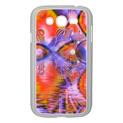 Crystal Star Dance, Abstract Purple Orange Samsung Galaxy Grand Duos I9082 Case (white) by DianeClancy