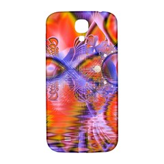 Crystal Star Dance, Abstract Purple Orange Samsung Galaxy S4 I9500/i9505  Hardshell Back Case by DianeClancy