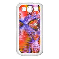 Crystal Star Dance, Abstract Purple Orange Samsung Galaxy S3 Back Case (white) by DianeClancy
