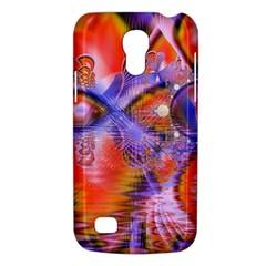 Crystal Star Dance, Abstract Purple Orange Samsung Galaxy S4 Mini (gt I9190) Hardshell Case  by DianeClancy