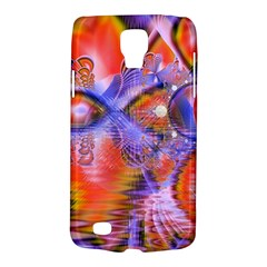 Crystal Star Dance, Abstract Purple Orange Samsung Galaxy S4 Active (i9295) Hardshell Case by DianeClancy