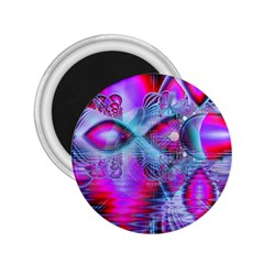 Crystal Northern Lights Palace, Abstract Ice  2 25  Button Magnet by DianeClancy