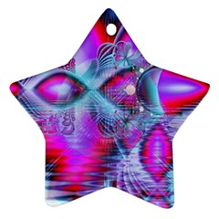 Crystal Northern Lights Palace, Abstract Ice  Star Ornament by DianeClancy