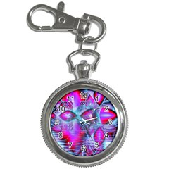 Crystal Northern Lights Palace, Abstract Ice  Key Chain Watch by DianeClancy