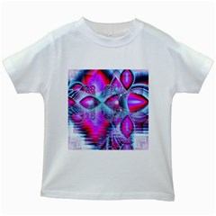 Crystal Northern Lights Palace, Abstract Ice  Kids T Shirt (white) by DianeClancy