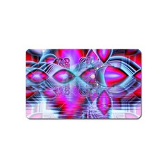 Crystal Northern Lights Palace, Abstract Ice  Magnet (name Card) by DianeClancy