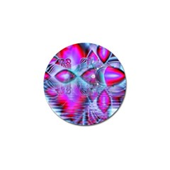 Crystal Northern Lights Palace, Abstract Ice  Golf Ball Marker 4 Pack by DianeClancy