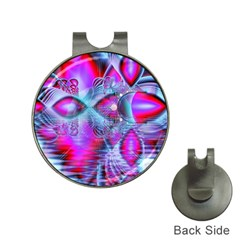Crystal Northern Lights Palace, Abstract Ice  Hat Clip With Golf Ball Marker by DianeClancy