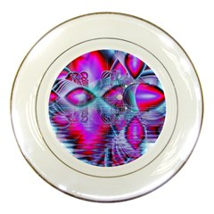 Crystal Northern Lights Palace, Abstract Ice  Porcelain Display Plate by DianeClancy