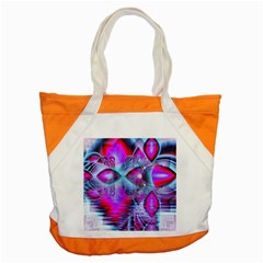 Crystal Northern Lights Palace, Abstract Ice  Accent Tote Bag by DianeClancy
