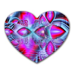 Crystal Northern Lights Palace, Abstract Ice  Mouse Pad (heart) by DianeClancy
