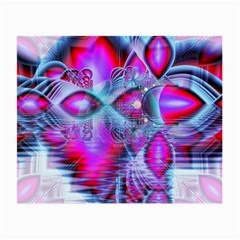 Crystal Northern Lights Palace, Abstract Ice  Glasses Cloth (small, Two Sided) by DianeClancy
