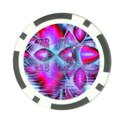 Crystal Northern Lights Palace, Abstract Ice  Poker Chip by DianeClancy